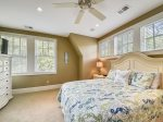 Upstairs Guest Room with King Bed at 3 Iron Clad