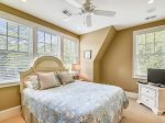 Upstairs Guest Room with Queen Bed at 3 Iron Clad