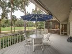 Back Deck with Dining Table and BBQ Grill at 18 Woodbine