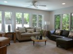 Carolina Room off Living Area with Golf Course Views at 18 Woodbine Place