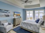 Master Bedroom on Second Floor with King Bed and Ocean Views at 10 Sea Hawk Lane