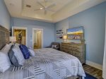 Master Bedroom with TV and Private Bath at 10 Sea Hawk Lane