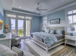 First Floor Master Bedroom with King Bed and Ocean Views at 10 Sea Hawk Lane
