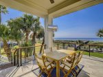 Covered Patio off Main Living Area Offers Ocean Front Dining at 10 Sea Hawk Lane