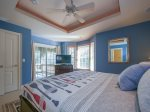 Guest Bedroom with Access to Screened Patio at 216 Cordillo Parkway