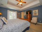 Master Bedroom with King Bed and TV at 216 Cordillo Parkway