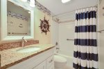 Updated Guest Bathroom with Shower/Tub Combo at 2203 Island Club