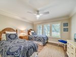 Guest Bedroom with Two Twin Beds at 35 South Sea Pines