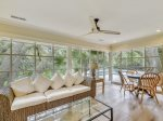 Sun Room with Pool Views at 35 South Sea Pines