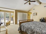 Master Bedroom with Access to Pool Deck at 15 Deer Run Lane