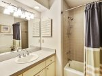 Guest Bathroom with Shower/Tub Combo at 15 Deer Run Lane