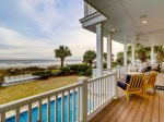 Covered Balcony with Direct Ocean Views at 95 Dune Lane