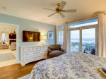 Master Bedroom with Ocean Views and Deck Access at 95 Dune Lane