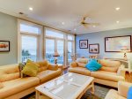 Second Floor Living Room with Ocean Views at 95 Dune Lane