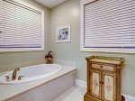 Soaking Tub in Master Bath at 95 Dune Lane