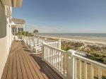 Private Access to Top Deck from Master Bedroom at 95 Dune Lane