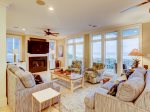 Main Living Room with Ocean Views at 95 Dune Lane