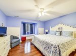 Upstairs Guest Bedroom with King Bed at 8 Windjammer