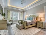 Master Bedroom with Beautiful Views of the Golf Course at 28 Stoney Creek
