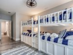 Upstairs Guest Bedroom with Custom Built Bunk Beds at 28 Stoney Creek