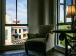 Cozy Reading Chair in Master Bedroom with Views of the Harbor Town Lighthouse at 683 Mariners Way