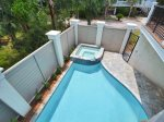 Completely Private Pool Area at 29 Pelican