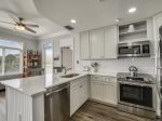 Kitchen with Stainless Steel Appliances at 1206 SeaCrest