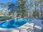 Large Pool Area with Beautiful Views of the Golf Course at 12 N Live Oak
