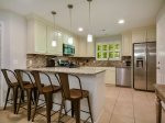Updated Kitchen with Breakfast Counter at 152 N Sea Pines Drive