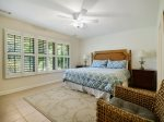 Master Bedroom with King Bed at 152 N Sea Pines Drive