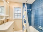 Hall Bathroom with Shower / Tub Combo at 7 Cassina Lane