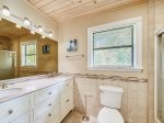 Jack n Jill Bathroom with Double Vanity and Shower/Tub Combo at 7 Cassina Lane