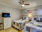 Guest Bedroom with Two Queen Beds and Access to Hall Bath at 411 Captains Walk