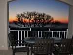 Enjoy the Sunset from Private Balcony at 3408 Windsor Court South