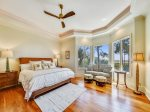 Master Bedroom on Upper Level 1 with a King Bed and Sofa Bed with Direct Ocean Views
