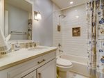 Guest Bathroom with Shower/Tub Combo at 47 Lands End