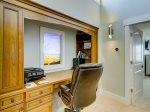 Upstairs Office Features Picture Window with Live Camera Views of Calibogue Sound at 47 Lands End