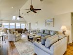 Living Room with Expansive Ocean Views at 47 Lands End