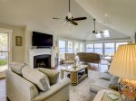 Living Room with 65 SMART TV at 47 Lands End