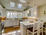 Renovated Kitchen with Stainless Steel Appliances at 47 Lands End