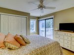 Queen Bedroom with Private Deck at 305 Golfmaster