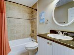 Guest Bathroom with Shower Tub Combo at 305 Golfmaster