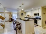 Kitchen with Breakfast Counter at 305 Golfmaster