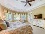 Main Level Master Bedroom with Access to Pool Deck at 67 Full Sweep