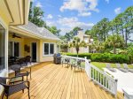 Large Back Deck with Dining Table and  BBQ Grill at 67 Full Sweep