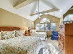 Upstairs Guest Room with Two Double Beds at 1 Twin Pines