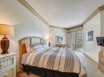 Master Bedroom with King Bed and Private Balcony at 1103 SeaCrest