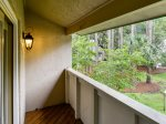 Private Balcony off Master Bedroom at 252 Stoney Creek