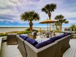 Beautiful Back Deck Overlooking Calibogue Sound at 45 Lands End