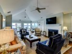 Living Room with Direct Ocean Views at 45 Lands